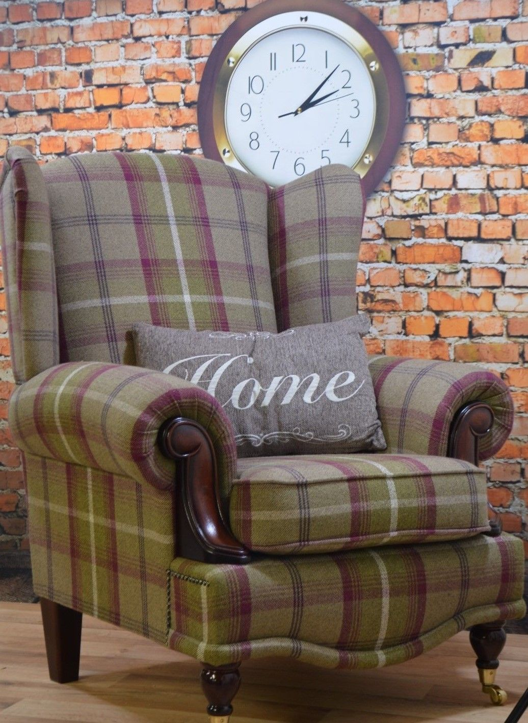 Wing Back Cottage Queen Anne Chair Bamburgh Mulberry